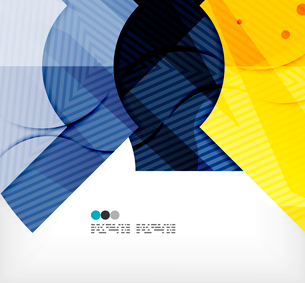 Modern futuristic techno abstract composition, overlapping shapesのイラスト素材 [FYI03098436]
