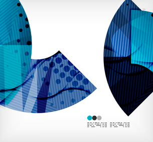 Modern futuristic techno abstract composition, overlapping shapesのイラスト素材 [FYI03098437]