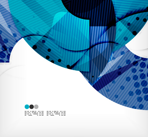 Modern futuristic techno abstract composition, overlapping shapesのイラスト素材 [FYI03098439]
