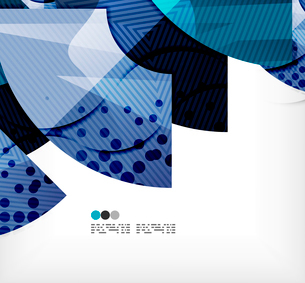 Modern futuristic techno abstract composition, overlapping shapesのイラスト素材 [FYI03098440]