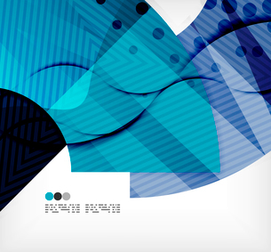 Modern futuristic techno abstract composition, overlapping shapesのイラスト素材 [FYI03098442]