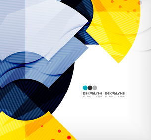 Modern futuristic techno abstract composition, overlapping shapesのイラスト素材 [FYI03098444]
