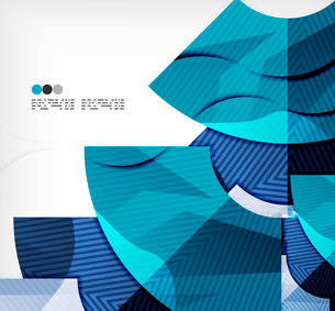 Modern futuristic techno abstract composition, overlapping shapesのイラスト素材 [FYI03098445]