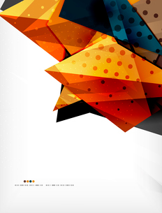 Abstract colorful overlapping shapes 3d compositionのイラスト素材 [FYI03098505]