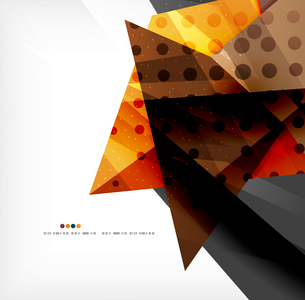 Abstract colorful overlapping shapes 3d compositionのイラスト素材 [FYI03098506]