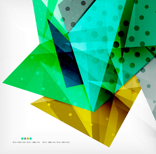 Abstract colorful overlapping shapes 3d compositionのイラスト素材 [FYI03098509]