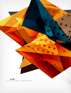 Abstract colorful overlapping shapes 3d compositionのイラスト素材 [FYI03098510]