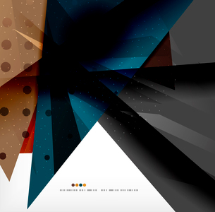Abstract colorful overlapping shapes 3d compositionのイラスト素材 [FYI03098512]