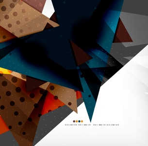 Abstract colorful overlapping shapes 3d compositionのイラスト素材 [FYI03098513]