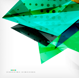 Abstract colorful overlapping shapes 3d compositionのイラスト素材 [FYI03098514]