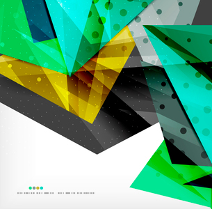 Abstract colorful overlapping shapes 3d compositionのイラスト素材 [FYI03098515]