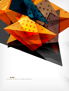 Abstract colorful overlapping shapes 3d compositionのイラスト素材 [FYI03098516]