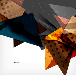 Abstract colorful overlapping shapes 3d compositionのイラスト素材 [FYI03098519]