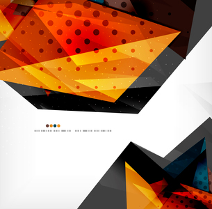Abstract colorful overlapping shapes 3d compositionのイラスト素材 [FYI03098520]