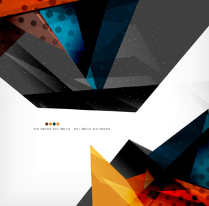 Abstract colorful overlapping shapes 3d compositionのイラスト素材 [FYI03098521]