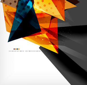 Abstract colorful overlapping shapes 3d compositionのイラスト素材 [FYI03098524]