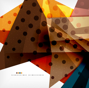 Abstract colorful overlapping shapes 3d compositionのイラスト素材 [FYI03098525]