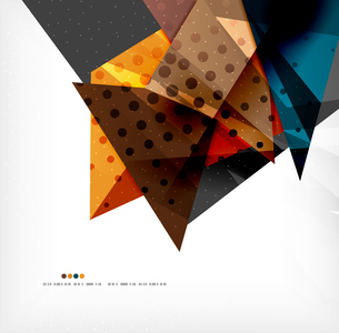 Abstract colorful overlapping shapes 3d compositionのイラスト素材 [FYI03098526]