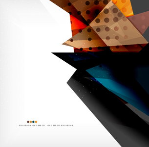 Abstract colorful overlapping shapes 3d compositionのイラスト素材 [FYI03098527]