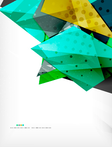 Abstract colorful overlapping shapes 3d compositionのイラスト素材 [FYI03098531]