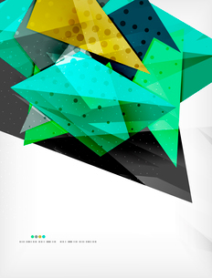 Abstract colorful overlapping shapes 3d compositionのイラスト素材 [FYI03098532]