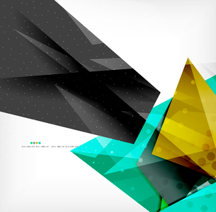 Abstract colorful overlapping shapes 3d compositionのイラスト素材 [FYI03098534]