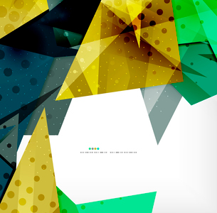 Abstract colorful overlapping shapes 3d compositionのイラスト素材 [FYI03098535]