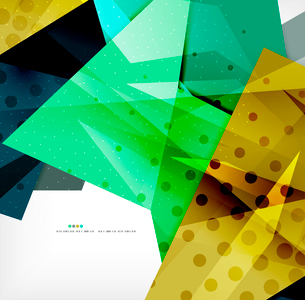 Abstract colorful overlapping shapes 3d compositionのイラスト素材 [FYI03098537]