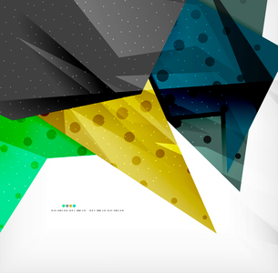 Abstract colorful overlapping shapes 3d compositionのイラスト素材 [FYI03098538]