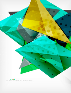 Abstract colorful overlapping shapes 3d compositionのイラスト素材 [FYI03098539]