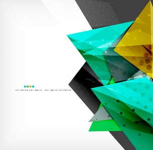 Abstract colorful overlapping shapes 3d compositionのイラスト素材 [FYI03098540]