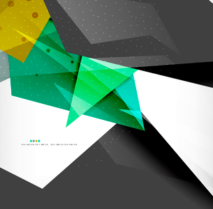 Abstract colorful overlapping shapes 3d compositionのイラスト素材 [FYI03098541]