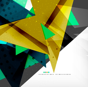 Abstract colorful overlapping shapes 3d compositionのイラスト素材 [FYI03098542]