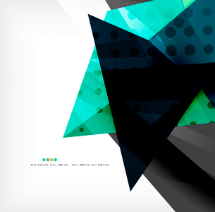 Abstract colorful overlapping shapes 3d compositionのイラスト素材 [FYI03098543]