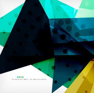 Abstract colorful overlapping shapes 3d compositionのイラスト素材 [FYI03098545]