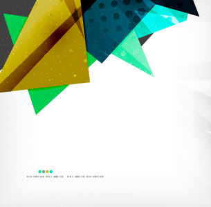 Abstract colorful overlapping shapes 3d compositionのイラスト素材 [FYI03098546]