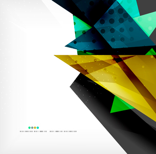 Abstract colorful overlapping shapes 3d compositionのイラスト素材 [FYI03098547]