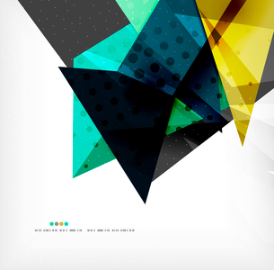 Abstract colorful overlapping shapes 3d compositionのイラスト素材 [FYI03098549]