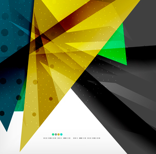 Abstract colorful overlapping shapes 3d compositionのイラスト素材 [FYI03098550]