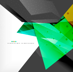 Abstract colorful overlapping shapes 3d compositionのイラスト素材 [FYI03098551]