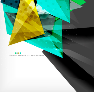 Abstract colorful overlapping shapes 3d compositionのイラスト素材 [FYI03098552]