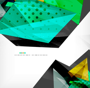 Abstract colorful overlapping shapes 3d compositionのイラスト素材 [FYI03098553]