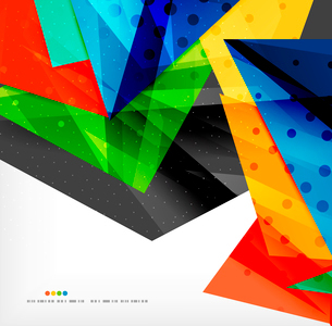 Abstract colorful overlapping shapes 3d compositionのイラスト素材 [FYI03098554]