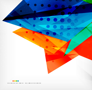 Abstract colorful overlapping shapes 3d compositionのイラスト素材 [FYI03098555]