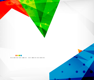 Abstract colorful overlapping shapes 3d compositionのイラスト素材 [FYI03098556]