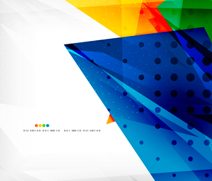 Abstract colorful overlapping shapes 3d compositionのイラスト素材 [FYI03098557]