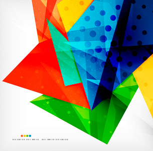 Abstract colorful overlapping shapes 3d compositionのイラスト素材 [FYI03098559]