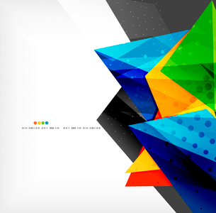 Abstract colorful overlapping shapes 3d compositionのイラスト素材 [FYI03098560]