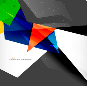 Abstract colorful overlapping shapes 3d compositionのイラスト素材 [FYI03098564]