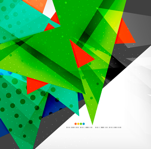 Abstract colorful overlapping shapes 3d compositionのイラスト素材 [FYI03098565]
